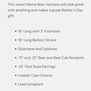 Icon Collection Jewelry - 💎BOGO Mama Bear & Cub Double Strand Necklace Set
